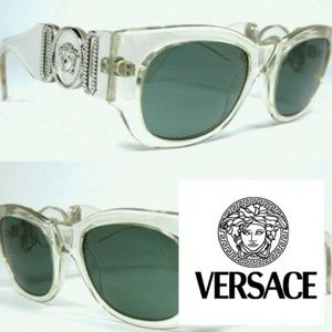 Accessories - RARE Vintage GIANNI VERSACE 413/B Clear Sunglass